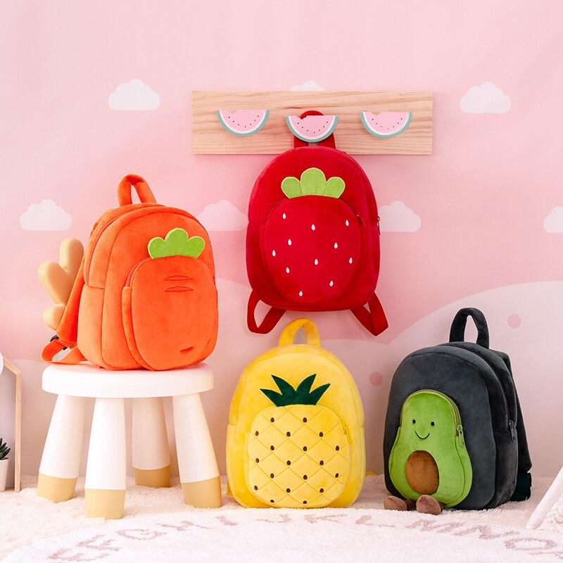 Gloveleya Fruit Backpack 2020 new Plush Toy Baby Girl Gift Kids Lovely School bag Baby GIft fruits Plush dolls backpack
